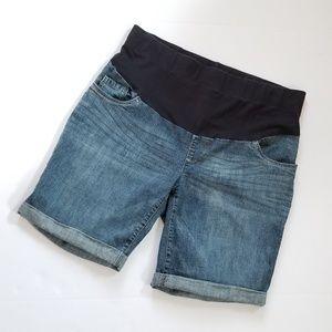 Oh Baby Maternity Jean Shorts Sz L
